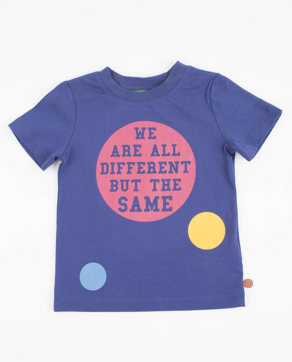 Violettes T-Shirt mit Punkten - ZulupaPUWA - Unisex - ZulupaPUWA